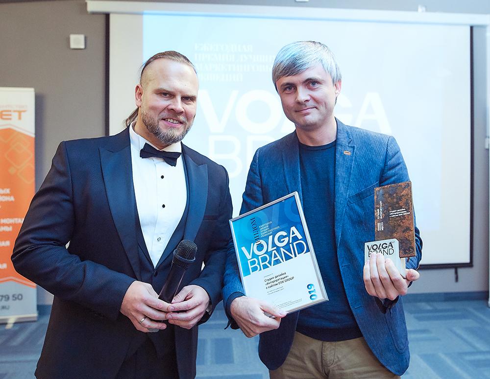 Николай Руфеев с Николаем Никульниковым на вручении премии.